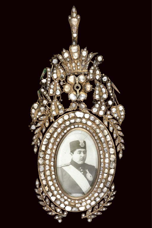 A QAJAR DIAMOND INSET ORDER OF