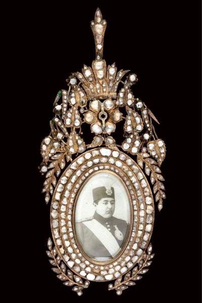 A QAJAR DIAMOND INSET ORDER OF