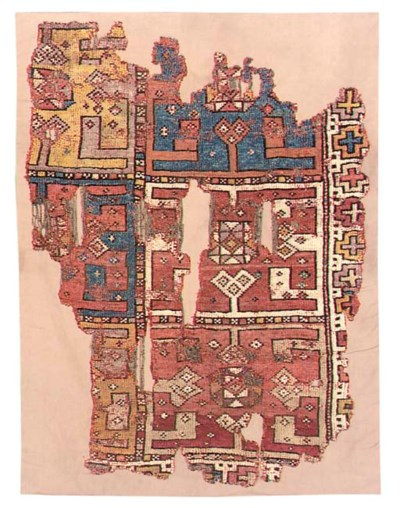 AN ANATOLIAN CARPET FRAGMENT