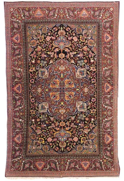 A PAIR OF ISFAHAN RUGS