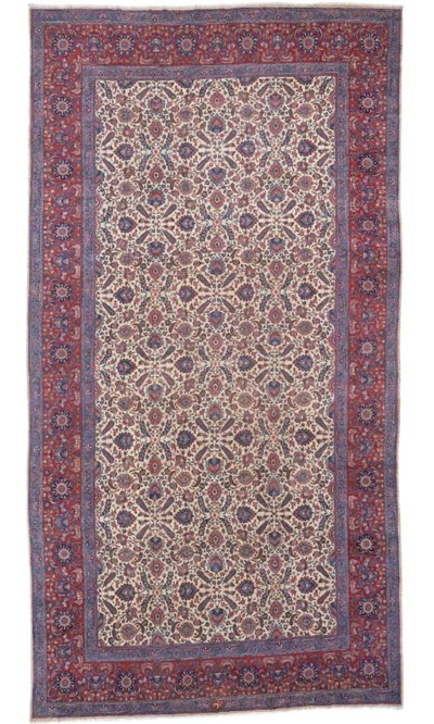 A LARGE MESHED CARPET