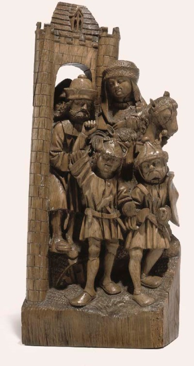 AN AJOURE CARVED WOOD RELIEF O