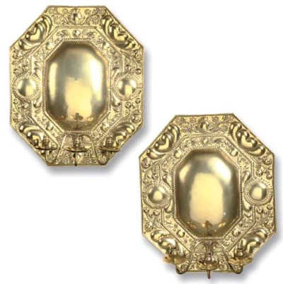A PAIR OF OCTAGONAL REPOUSSE B