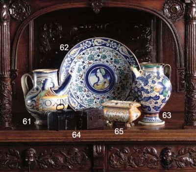 A FRENCH FAIENCE BALUSTER SYRU