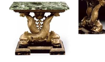 A GEORGE II GILTWOOD PIER TABL