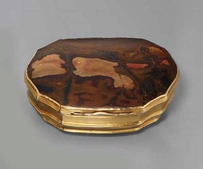 A GEORGE II HARDSTONE AND GOLD