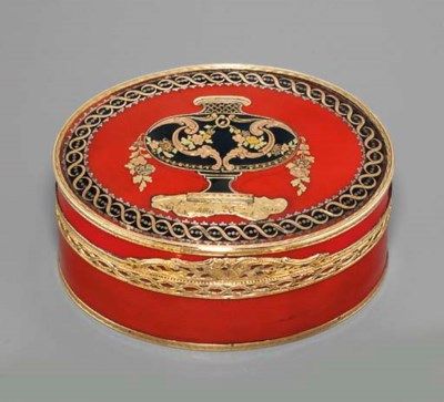 A LOUIS XV GOLD-LINED LACQUER