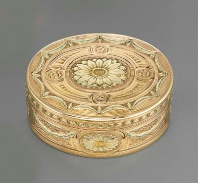 A LOUIS XV THREE-COLOUR GOLD S