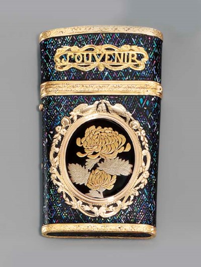 A LOUIS XV GOLD-MOUNTED LACQUE