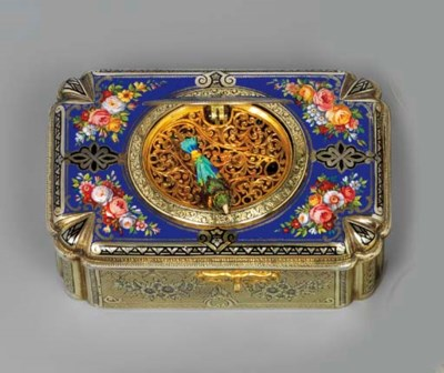 A SWISS ENAMELLED SILVER-GILT