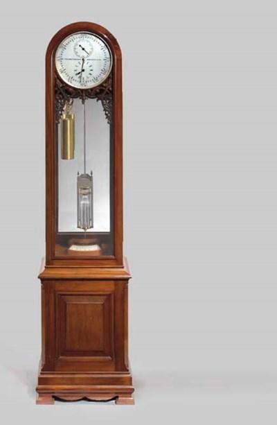 A late Victorian mahogany long
