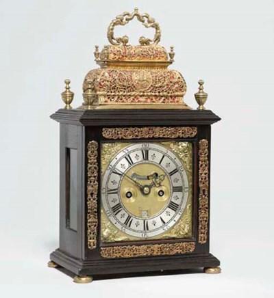 A William III ebony and brass-