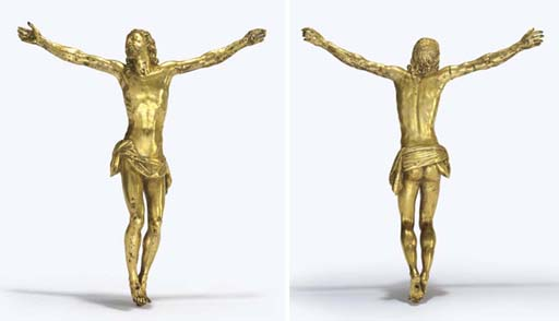 A GILT-BRONZE FIGURE OF CHRIST