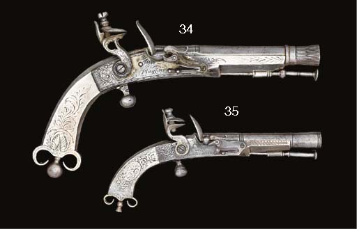 AN UNUSUAL ALL-METAL FLINTLOCK HIGHLAND DRESS PISTOL MADE FOR A CHILD, BY PARKER FIELD & SON
