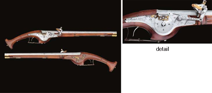 A VERY RARE PAIR OF FRENCH WHEEL-LOCK HOLSTER PISTOLS SIGNED SAUVAGE A TOURNÉ, THE STOCKS INSCRIBED A. HONCHANT