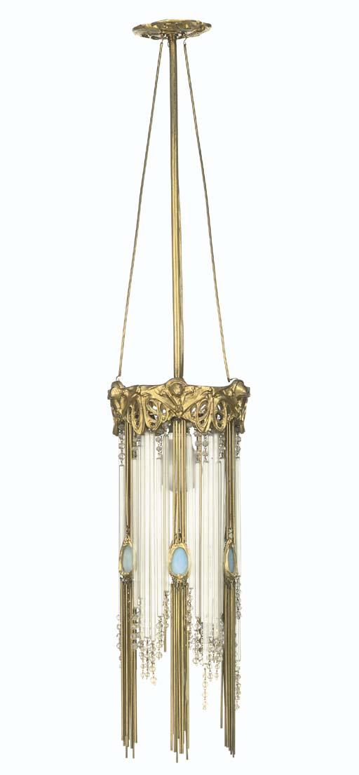 Hector guimard chandelier circa 1904 christies hector guimard aloadofball Image collections