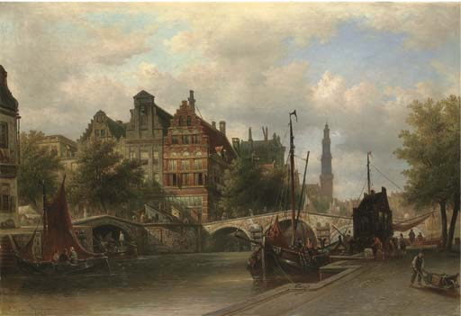Elias van Bommel (Dutch, 1819-