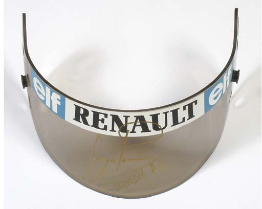F1 - Ayrton Senna - an original visor from the 1986 season; signed, dated and marked 'Brazil' by the driver.