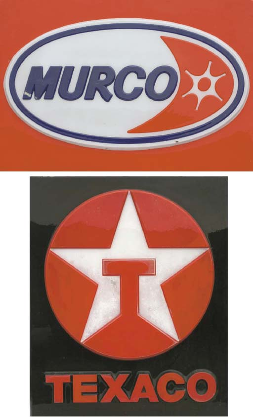 Murco, BP, Texaco etc - A similar group of large forecourt display signs; 1960s-1970s.  (6)