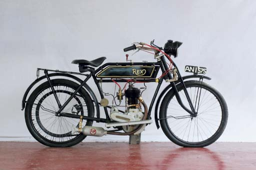 c.1912 motorcycle with Rex engine