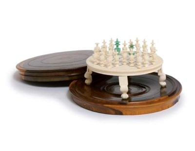 AN INDIAN IVORY GAMES BOARD