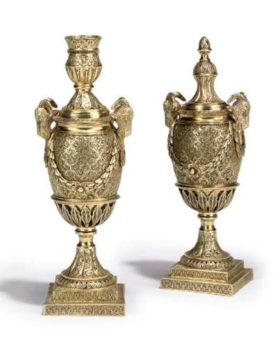 A PAIR OF ANGLO-INDIAN FILIGRE