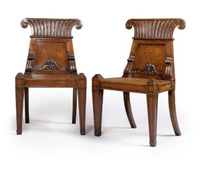 A PAIR OF GEORGE IV OAK AND BR