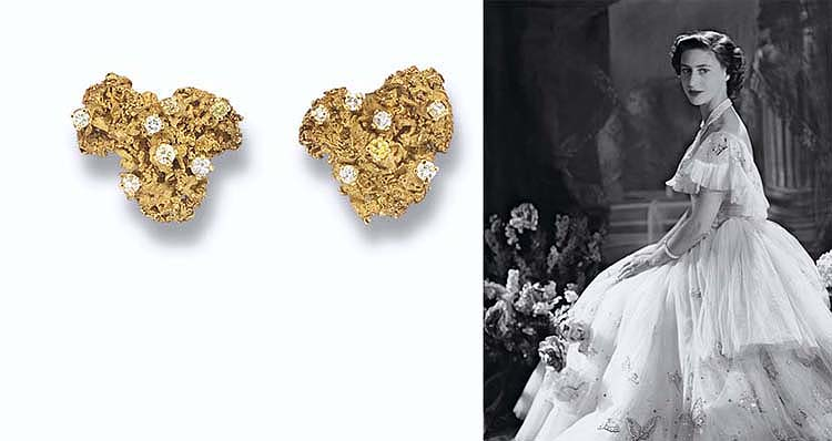 A PAIR OF DIAMOND-SET LICHEN EARCLIPS, BY ANDREW GRIMA