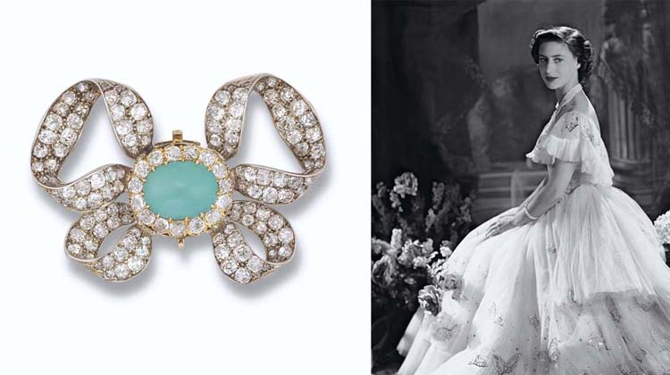 AN ANTIQUE TURQUOISE AND DIAMO