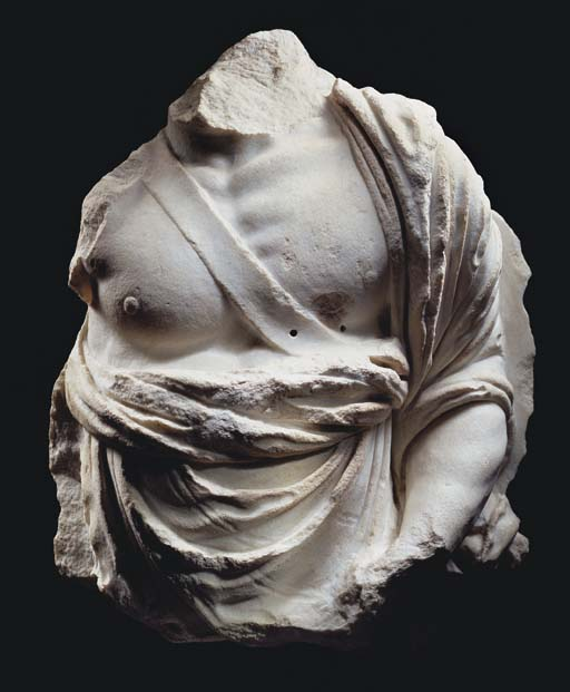 A HELLENISTIC MARBLE MALE TORS