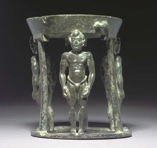 A BACTRIAN BRONZE INCENSE STAN