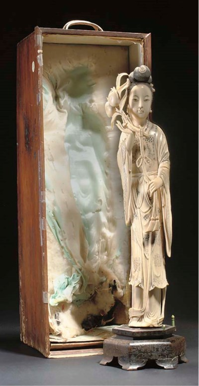 A Chinese ivory model of Guany
