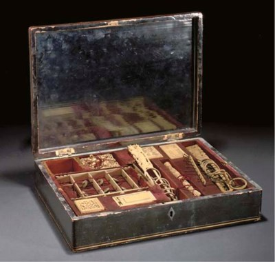 A Chinese lacquer games box, 1