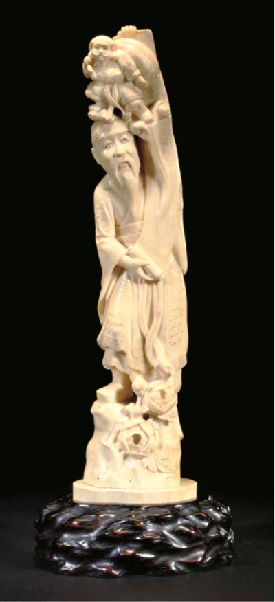 A Japanese ivory carving, 19th