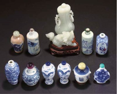 Ten Chinese blue and white por