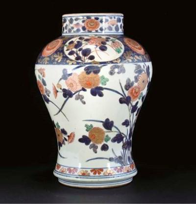 An Imari baluster jar, early 1