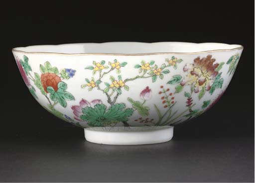 A famille rose bowl, 19th cent