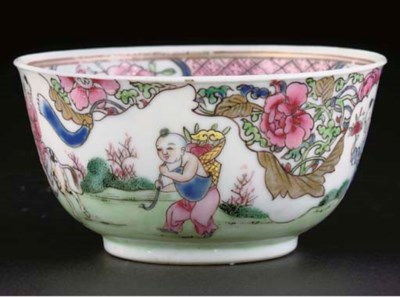 A famille rose tea bowl, Yongz