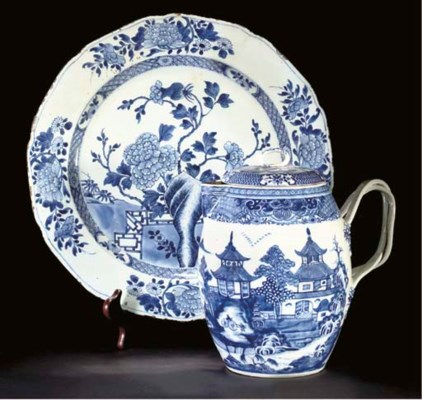 A Chinese blue and white jug a