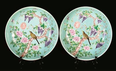 A pair of Empress Dowager dish