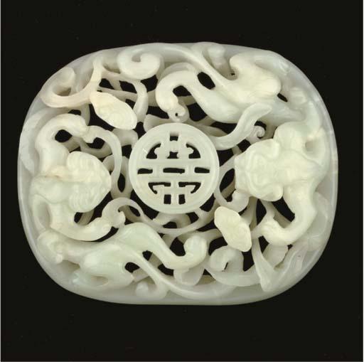 A Chinese pale celadon jade op