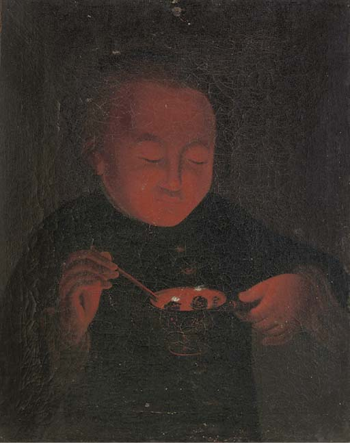 A Chinese oil painting, 19th c