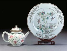 A famille rose plate, Yongzheng