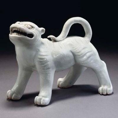 A Hirado model of a tiger, 19t