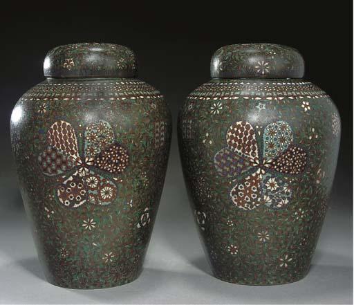 A Pair of Japanese cloisonne v