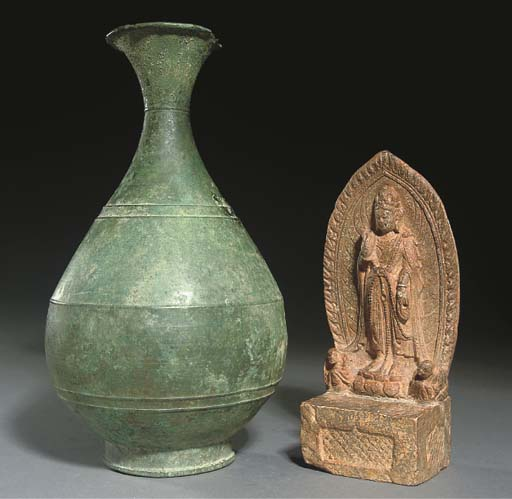 A Korean bronze vase, Koryo dy