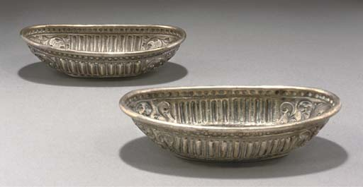 TWO OVAL SILVER DISHES, NORTH