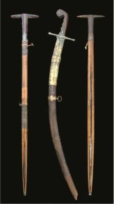 THREE OTTOMAN SWORDS TURKEY AN