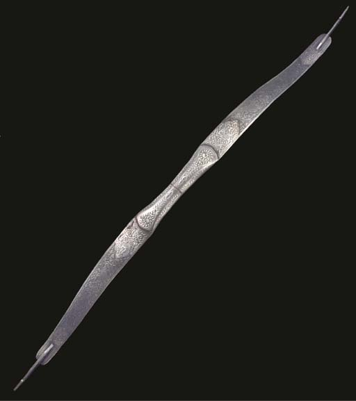 An Indian steel bow, 20th cent