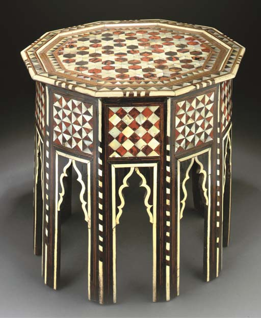 AN OTTOMAN MOTHER-OF-PEARL AND